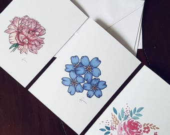 Minimal Floral Greeting Card