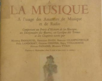 "Rare book. A collection. ""Introduction to music lovers deusique and radio use"".  Published by drummer. 1949"