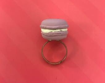 Lavender Macaroon Ring