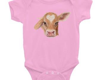 Baby Cow Calf Infant Bodysuit