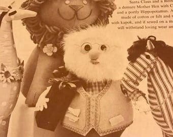 SUMMERSALE Vintage 9 Stuffed Toys from the November 1961 issue of Woman's Day Magazine