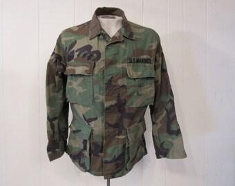 Vintage jacket, Marines jacket, camouflage jacket, USMC jacket, military jacket, 1980s jacket, vintage clothing, camo jacket, medium
