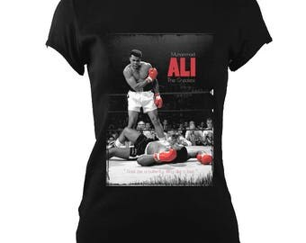 Muhammed Ali Sting Like a Bee Brand New Womens Fitted T-Shirt Unique Gift