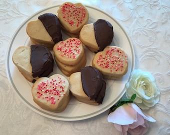 Assorted Valentine's Day Spritz Cookies, Assorted Valentine Sugar Cookies, Valentine Cookie Assortment, Nut Free Valentine Cookie Assortment