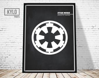 Star Wars, Star Wars Print, Galactic Empire, Star Wars Poster, Wall Art, Printable Art, Star Wars Gift, Digital Print, Star Wars Printable