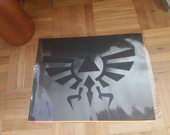 Large Legend of Zelda Stencil handcut