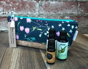 Perfect Essential Oil Pouch / Blue Floral Essential Oil bag