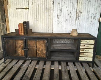 Row of industrial style furniture