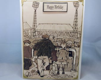 Male Birthday Card - Retro Football - Remember When - luxury personalised unique quality special bespoke UK - Dad/Son/Uncle/Brother/Nephew