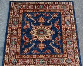 52% HOTSALE AS1968, Afghan Medallion Square Oriental Kazak Handmade Rug 3x3 Ft