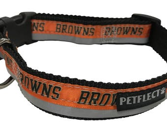 Cleveland Browns Reflective Dog Collar
