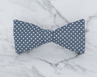 Handmade Men's polka dot Bow Tie with adjustable strap / 100% cotton / Wedding Bow Tie / Gifts for men / Gifts for him