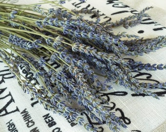 Dried lavender, 55 long stems Dried Lavender Bunch, Dry English Lavender, Lavender bunch, Lavender wedding, Dried flowers bouquet, Lavender