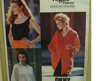 Spring 20% Off Sale Vogue 2451 - DKNY - Vintage from 1990 - Size 12-14-16 - Uncut