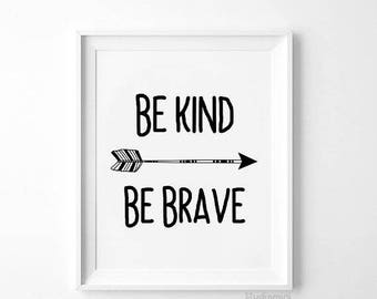 Be kind,Be kind print,SALE Printable Quote,Vintage arrow,Motivational Quote,Quote print,Quote wall art,Quote Home Decor,Be kind Poster
