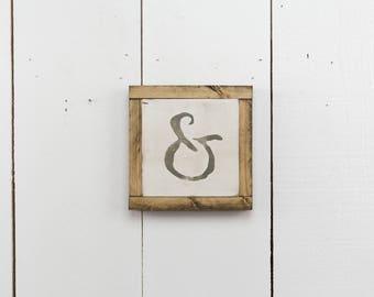 "7"" x 7"" Ampersand (& Symbol) - Wood Sign"