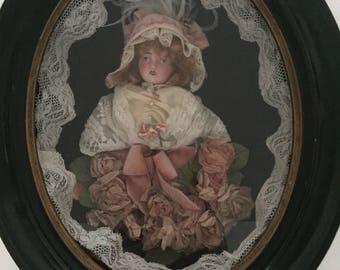 Napoleon 3 mourning frame? Doll