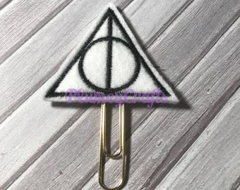 Deathly hallow paper clip, planner clip, hp paperclip, planner paperclip, planner accessory, wizard bookmark, harry paperclip