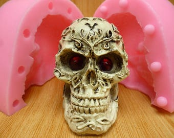 3D Small Skull head Silicone Mold