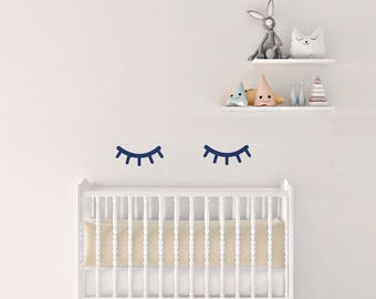 Nursery Wall Decals Sleepy Eyes Stickers, Wall Stickers Wall Eyelashes,  Vinyl Wall Decal Stickers Part 54