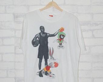 Vintage 90s Nike Michael Jordan Space Jam 1993  Nike Air Jordan Basketball Streetwear Hip Hop
