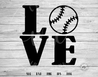 baseball love svg, love svg, Baseball SVG, Baseball Mom, Sports SVG, Baller SVG, Cricut, Silhouette, Cut Files, svg, dxf, png, eps, jpeg