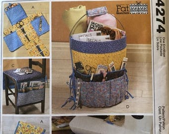 Pattern McCalls Crafts sewing pattern 4274 sewing accessories