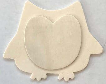 Unfinished wood owls/wood owls/diy owls/unfinished wood shape/kids project/paint project/paintable owls/party project