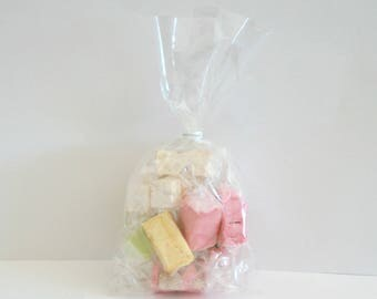 100 bags candy transparent 10 x 20 cm