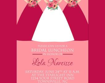 Bridal Bridesmaids Luncheon Invitation