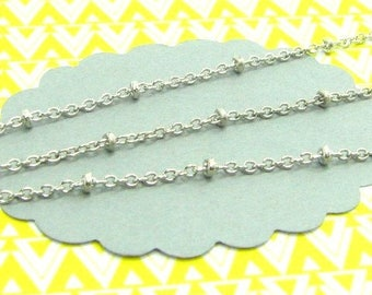 1 m chain beads and silver links CHA11
