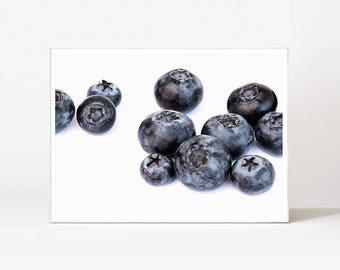 Blueberry Art Print Fruit Print Modern Minimalist Food Art Kitchen Poster Instant Download Food Poster Kitchen Fruit Print Food Wall Print