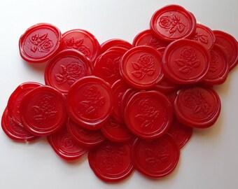 "Rose Flower Wedding Party Birthday Invitation self adhesive wax seal peel sticker 3/4"""