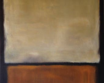 Hand Painted Mark Rothko Inspired No. 7 1963 Painting Reproduction On Canvas