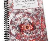 Entrepreneur Planner and Journal  Spiral Bound  Planner - Red Celebration Page A Week 2018 - Spiral Bound 6.5 x 9