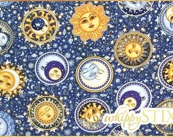 Constellation fabric etsy for Celestial fleece fabric