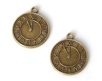 3 pendants color bronze 28 x 25 mm