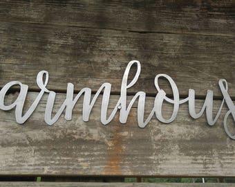 Farmhouse Metal Sign, Farmhouse Word Art, Metal Words, Rustic Wall Decor, Farmhouse Wall Signs, Farmhouse Wall Art, Farmhouse Metal Sign