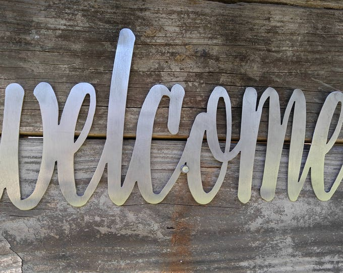 Welcome Sign, Welcome Decor, Farmhouse Wall Decor, Welcome Metal Word, Entryway Decor, Welcome Wall Decor, Farmhouse Welcome Signs, Welcome