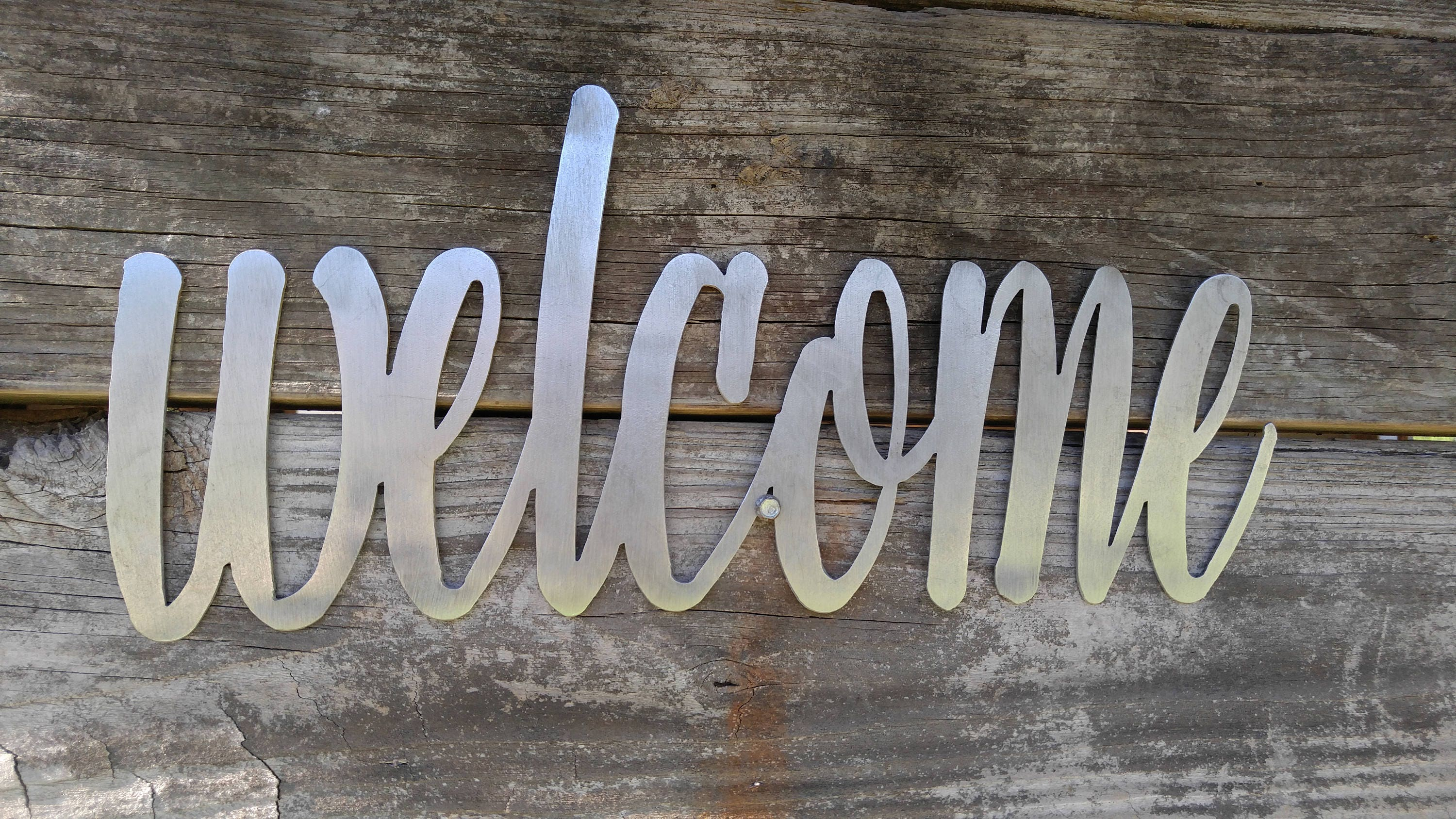 Welcome sign welcome decor farmhouse wall decor welcome metal 1 amipublicfo Gallery