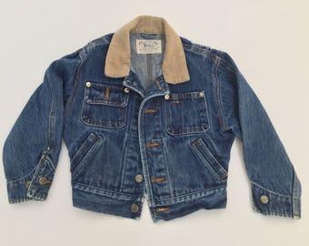 Vintage Kids Polo Ralph Lauren Denim Jacket | Vintage Child polo jean Jacket | 90s Child polo Jacket