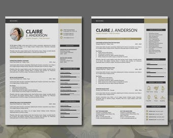 Summary Section Of Resume Free Resume Template  Etsy Cna Resume Skills Pdf with Best Words To Use In A Resume Excel Professional Resume Template Word Format  Pages Word Resume Design And  Free Cover Letter In Warehouse Skills For Resume