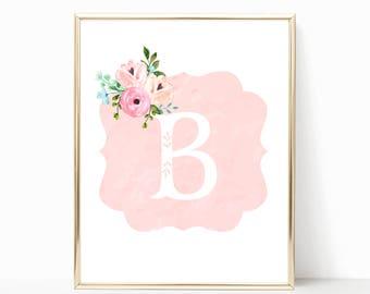 Personalized Nursery Monogram. Shabby Nursery Decor. Personalized Baby Gift. Printable Nursery Wall Art. Shabby Nursery. Baby Girl Nursery.