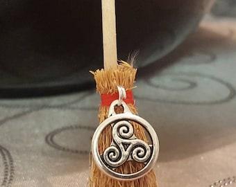 Altar Broom/Mini Witch Broom/Celtic