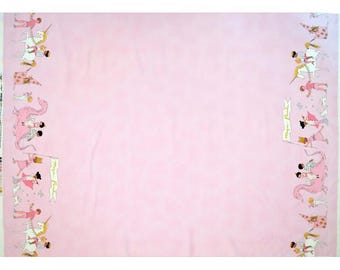 Sara Jane Magic Parade - Sara Jane Magic Parade Minky fabric - Minky fabric - Pink Minky - White Minky - Dragon Minky - Fabric by the yard