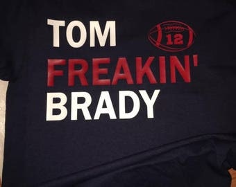 TOM FREAKIN' BRADY Navy blue T-Shirt