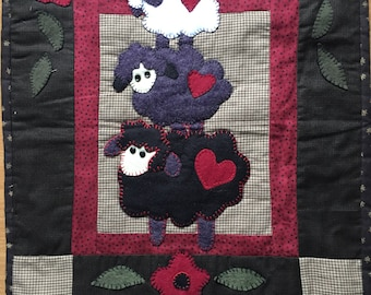 Wooly sheep wallhanging