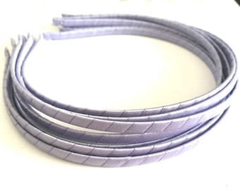 10pieces lavender satin metal hair headband covered 5mm wide