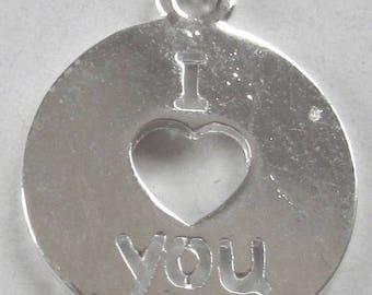 Solde -5% Silver Medal I love you - 16 mm