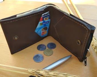Mens Bifold Wallet Coin purse mens wallet leather coin purse coin purse wallet mens leather wallet card holder wallet coin wallet